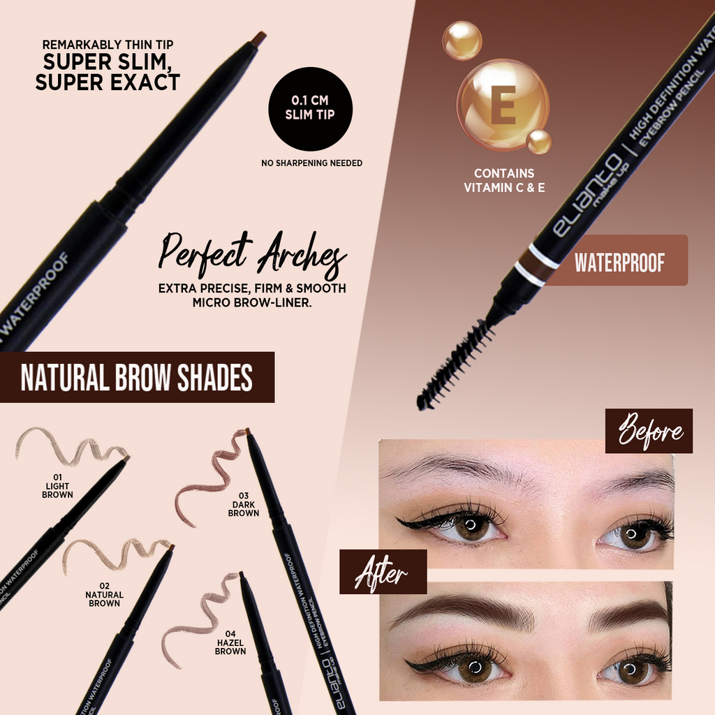High Definition Waterproof Eyebrow Pencil - Elianto