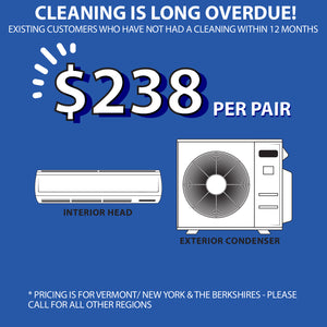 OVERDUE DEEP CLEANING - WITHOUT ANNUAL MAINTENANCE (1 interior head & 1 condenser)