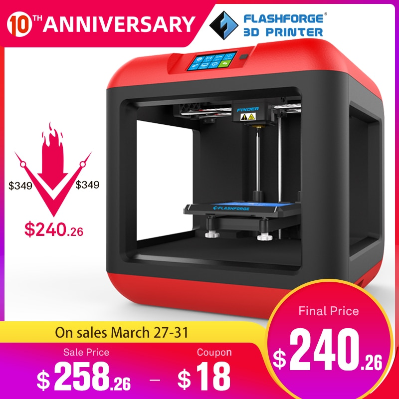Flashforge Finder 2.0 3D Printer Auto Leveling Removable platform Single extruder with/1 spool PLA filament