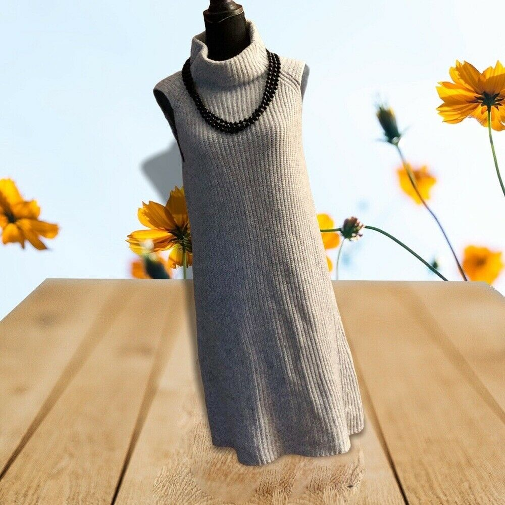 Beautiful Soft Gray Sweater Dress