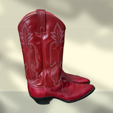 Load image into Gallery viewer, Dan Post Red Cowboy Boots - Pale Ale Boutique