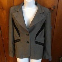 Load image into Gallery viewer, Gray and Black Blazer Ladies Sz 12