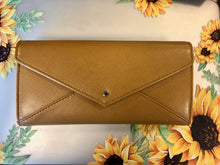 Load image into Gallery viewer, RFID Blocking Ladies Envelope Clutch Camel Color - Pale Ale Boutique