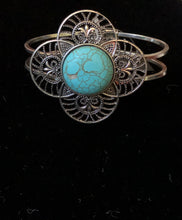 Load image into Gallery viewer, Silver Turquoise Clamp Bracelet - Pale Ale Boutique