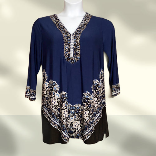JM Collection Gorgeous Ladies Tunic - Pale Ale Boutique