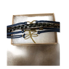 Load image into Gallery viewer, Nature Leather Charm Bracelet - Pale Ale Boutique