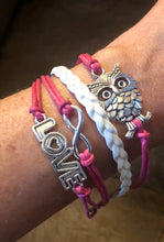 Load image into Gallery viewer, Owl Love Charm Bracelet - Pale Ale Boutique