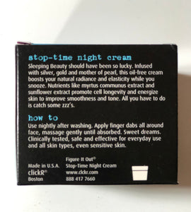 ClickR by Sephora Stop-time Night Cream - Pale Ale Boutique
