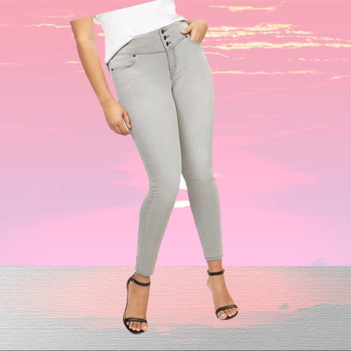 Lane Bryant High Rise 3 Button Jegging - Pale Ale Boutique