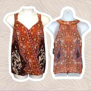 INC International Colorful Sleeveless Top NW - Pale Ale Boutique