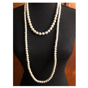 Beautiful Double Strand Pearl Necklace - Pale Ale Boutique