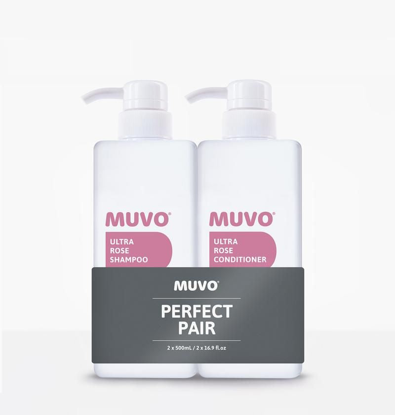 MUVO Ultra Rose Shampoo & Conditioner Duo - Apotique