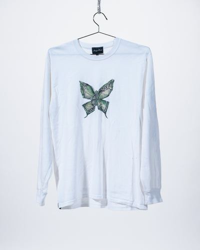 Butterfly Effect Long Sleeve T-Shirt - White