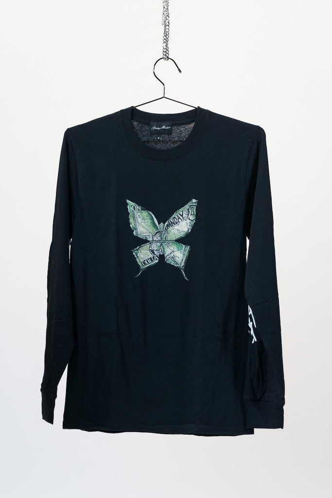 Butterfly Effect Long Sleeve T-Shirt - Black