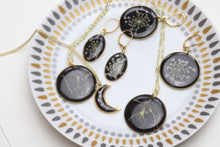 Load image into Gallery viewer, Black Queen Anne's Lace Earrings - Oval