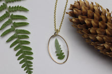 Load image into Gallery viewer, Fern Necklace Oval