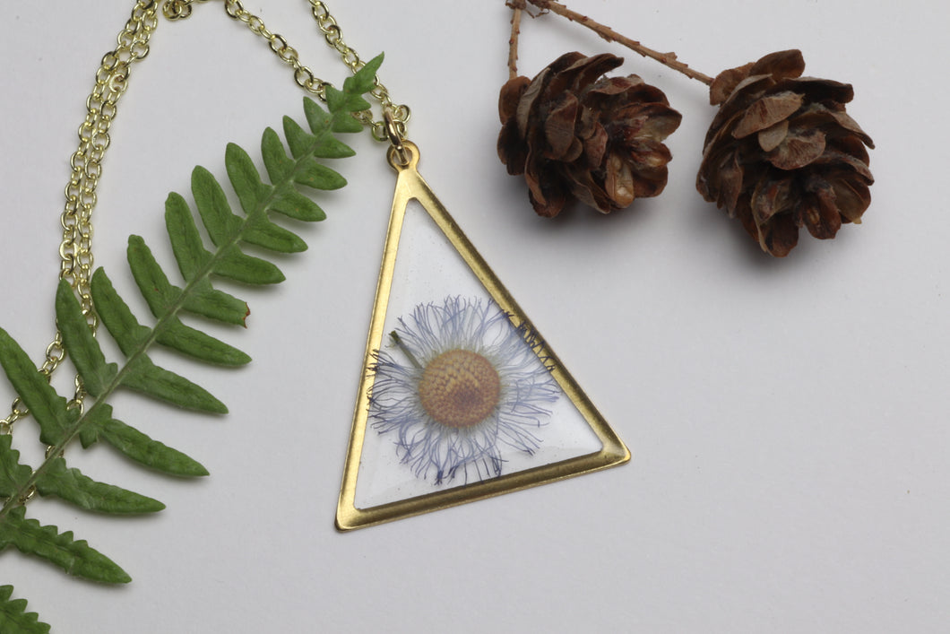 Daisy - Purple Triangle Necklace