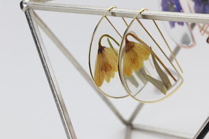 Yellow Bell Large Botanical Earrings