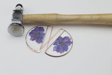 Load image into Gallery viewer, Larkspur Large Botanical Earrings