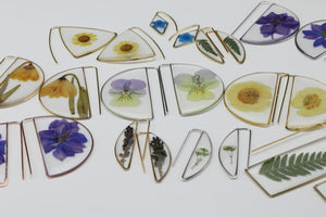 Pansy Large Botanical Earrings