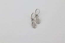 Load image into Gallery viewer, Western Bracken Fern Silver Earrings