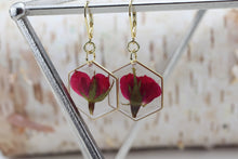 Load image into Gallery viewer, Rose Hexagon Gold Plated Earrings
