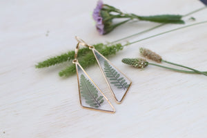 Fern Triangle Earrings