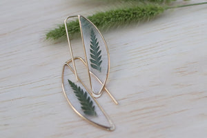 Fern Crescent Earrings