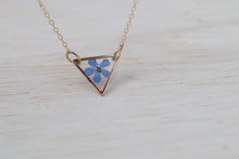 Load image into Gallery viewer, Forget me not triangle necklace