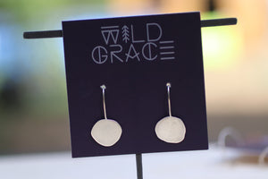 Handcut artisan disc earrings