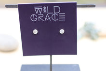 Load image into Gallery viewer, Minimalist silver matte dot stud earrings