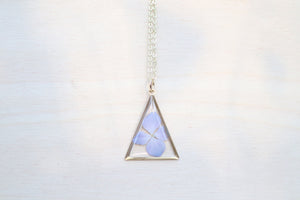 Hydrangea Triangle Necklace