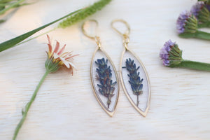 Lavender Marquise Earrings