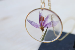 Idaho Blue Eyed Grass Flower Necklace