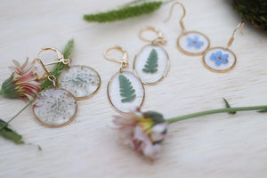 Forget me not flower earrings - Dainty Dangle and Drop