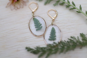 Fern Earrings Dainty Dangle and Drop