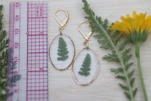 Load image into Gallery viewer, Fern Earrings Dainty Dangle and Drop