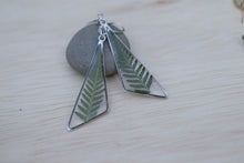 Load image into Gallery viewer, Fern Triangle Earrings