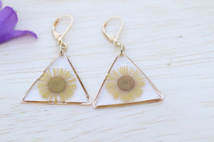 Daisy triangle earrings