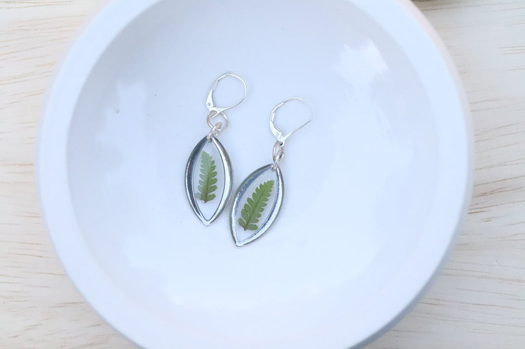 Fern Earrings Silver