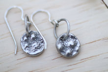 Load image into Gallery viewer, Romensco patterned silver drop earrings