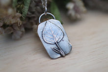 Load image into Gallery viewer, Aspen Leaf Silver Pendant and Necklace