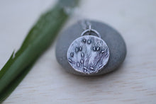 Load image into Gallery viewer, Grass Vignette Silver Pendant and Necklace