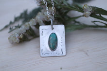 Load image into Gallery viewer, Nacozari turquoise thick rectangle necklace