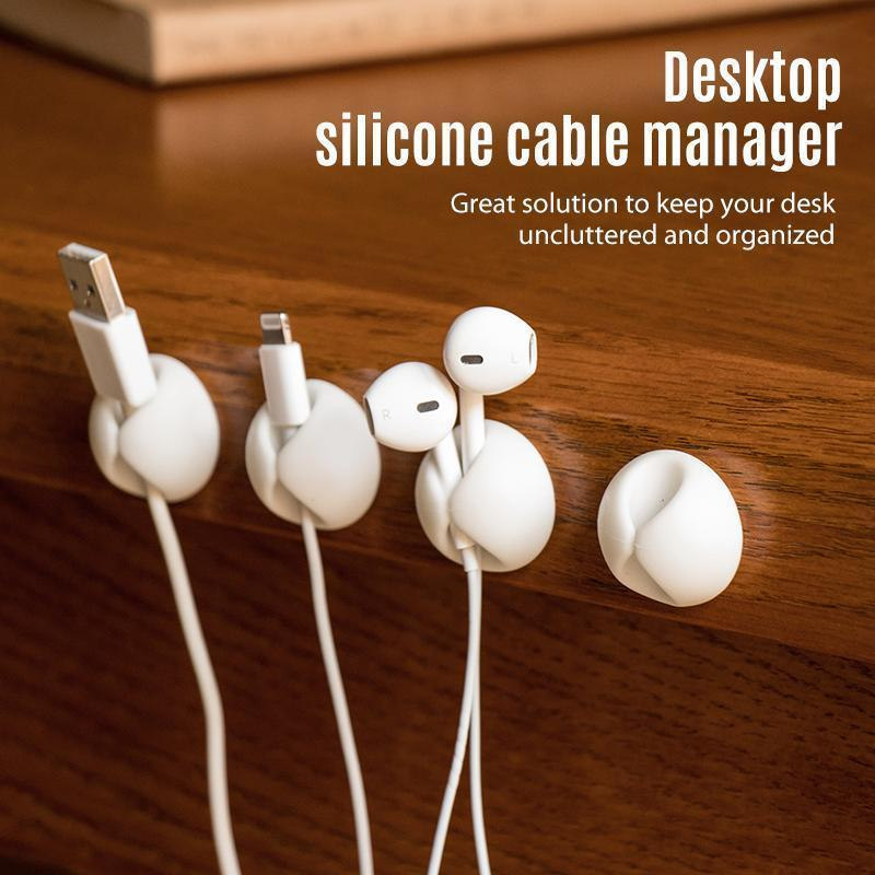 Multipurpose Silicone Cable Manager Clips