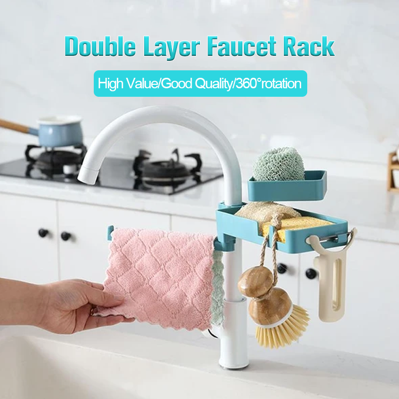 Double Layer Faucet Storage Rack