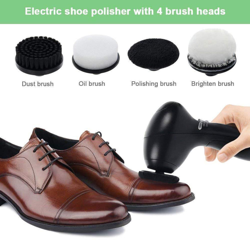 Electric Shoe Polisher,4 brush heads
