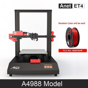 New Updated Anet ET4 All Metal Intergrated 3D Printer With A4988 / TMC2208 Step Driver Impressora 3D Low Loisy Printer