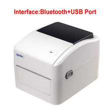 Load image into Gallery viewer, 152mm/s thermal shipping label printer  Thermal barcode printer for thermal label paper width between 25-115mm  support QR CODE