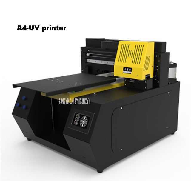 A4-2135 UV Printer Automatic Universal Plate Marking Machine 100W 110-220V For Mobile Phone Cell Cylinder Wood Glass Printing